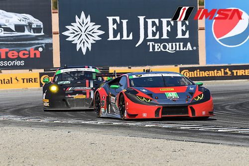 29 April - 1 May, 2016, Monterey, CaliforniaUSA<br /> 48, Lamborghini, Huracan GT3, GTD, Bryan Sellers, Madison Snow<br /> &copy;2016, Richard Dole<br /> LAT Photo USA