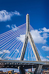 The Leonard P. Zakim Bunker Hill Bridge in Charlestown, Boston, Massachusetts, USA