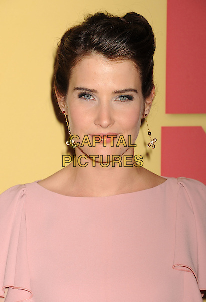 Cobie Smulders.The 2012 Women In Film Crystal + Lucy Awards at The Beverly Hilton Hotel in Beverly Hills, California, USA..June 12th, 2012 .headshot portrait pink dangling earrings.CAP/ROT/TM.©Tony Michaels/Roth Stock/Capital Pictures