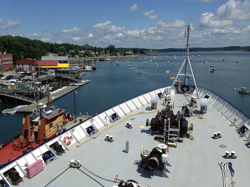 View of Castine from the Deck of T/V State of Maine, Castine, Maine, US