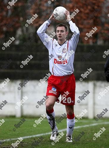2008-01-20 / Voetbal / Willebroek-Meerhof - Eendracht Aalst / Laurens Melotte (W-M)..Foto: Maarten Straetemans (SMB)