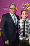 Matthew Broderick and James Wilkie Broderick attends the Broadway Opening Performance of 'Charlie and the Chocolate Factory' at the Lunt-Fontanne Theatre on April 23, 2017 in New York City.