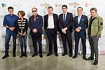 "Luis Larrodera, Ana Garcia Lozano, Paco Lobaton, Burgos Mayor Javier Lacalle and Roberto Brasero attends to the meeting ""Hoy presentamos"" in Burgos, Spain. March 29, 2017. (ALTERPHOTOS/BorjaB.Hojas)"