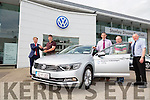 Eamonn Fitzmaurice was presented with a new VW by Denis Divane at Divanes of Castleisland on Friday Pictured also John Vahey, Martin Conlon from Volkswagen Group Ireland and Joe Martin
