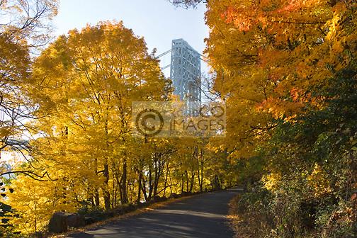 ROAD PALISADES PARK GEORGE WASHINGTON BRIDGE PALISADES NEW JERSEY USA