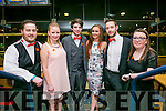 Enjoying the IT Tralee radio station fundraising black tie, 3T's charity night at the Kingdom Greyhound Stadium on Tuesday were the Organising committee Gerard Denis O'Connor, Claudia  Kapcinska, Dylan Ducy,  Shannon Fogarty, James Kenny and  Sandra Moynihan