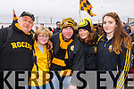 Brian and Catherine McKivergan, Seamus O'Mahony, Sinead McKivergan and Niamh McKivergan Austin Stacks supporters at the Austin Stacks v Slaughtneil All Ireland Club Football Semi Final in Portlaoise on Sunday.