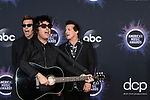 Green Day - Mike Dirnt, Billie Joe Armstrong, Tre Cool<br /> at the 47th American Music Awards, Microsoft Theater, Los Angeles, CA 11-24-19<br /> David Edwards/DailyCeleb.com 818-249-4998