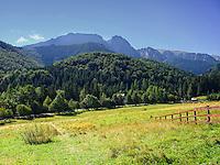 View on Giewont mountain in Tatra Mountains from Zakopane, Poland