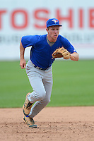 Third baseman Charles Cody (8) of Great Bridge High School in Chesapeake, Virginia playing for the Toronto Blue Jays scout team during the East Coast Pro Showcase on August 1, 2013 at NBT Bank Stadium in Syracuse, New York.  (Mike Janes/Four Seam Images)