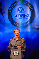 Darling Harbour, Sydney. (20th February, 2013): Four-times World Champion Mark Richards (AUS) was named Australia's Most Influential Surfer 1963-2013.    Australian surfing celebrated its champions tonight with Mark Richards and Stephanie Gilmore honoured at the Australian Surfing Awards in Sydney...The Awards marked a significant milestone in Surfing Australia's history as it celebrated its 50th Anniversary following its formation in 1963 as the Australian Surfriders Association and over 500 guests celebrated at the gala event. It was an unprecedented gathering of Australian surfing legends from the past 50 years...Four-times World Champion Mark Richards was named Australia's Most Influential Surfer 1963-2013, while five-times World Champion Stephanie Gilmore was inducted as the 35th member of the Australian Surfing Hall of Fame...The campaign to find Australia's 10 Most Influential Surfers 1963-2013 was conducted through a public vote and through votes provided by the members of the Australian Surfing Hall of Fame...The 10, in order of votes received, was: Mark Richards, Simon Anderson, Nat Young, Michael Peterson, Midget Farrelly, Tom Carroll, Layne Beachley, Wayne Bartholomew, Mark Occhilupo and Bob McTavish...Peter 'Joli' Wilson's photo of the wave Cloudbreak off Fiji during the enormous run of swell in June won the Nikon Surf Photo of the Year and Storm Surfers 3D featuring Ross Clarke-Jones and Tom Carroll was named the Nikon Surf Movie of the Year...2013 AUSTRALIAN SURFING AWARDS WINNERS..Australian Surfing Hall of Fame Inductee: Stephanie Gilmore.Australia's Most Influential Surfer 1963-2013: Mark Richards.Male Surfer of the Year: Joel Parkinson.Female Surfer of the Year: Stephanie Gilmore.Rising Star: Jack Freestone.Waterman of the Year: Jamie Mitchell.ASB Surfing Spirit Award: Misfit Aid.Peter Troy Lifestyle Award: Bob Smith.Surf Culture Award: The Reef - by the Australian Chamber Orchestra and Tura New Music.Simon Anderson Club Award: Kirra Surfriders Cl