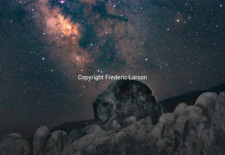The Milky Way from the Alabama Hill, CA.