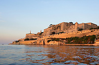General view of the Ramparts, Valletta, Malta from the sea, pictured on June 6, 2008, in the warm evening light.  The Republic of Malta consists of seven islands in the Mediterranean Sea of which Malta, Gozo and Comino have been inhabited since c.5,200 BC. Nine of Malta's important historical monuments are UNESCO World Heritage Sites, including  the capital city, Valletta, also known as the Fortress City. Built in the late 16th century and mainly Baroque in style it is named after its founder Jean Parisot de Valette (c.1494-1568), Grand Master of the Order of St John. Picture by Manuel Cohen.