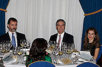 Prince Felipe of Spain, Michael Ignatieff and Princess Letizia of Spain attend the 'Francisco Cerecedo Journalism Award' ceremony at the Ritz Hotel in Madrid. November 20, 2012. (ALTERPHOTOS/Caro Marin) /NortePhoto