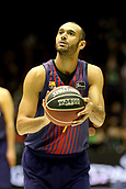 7th January 2018, San Pablo Sports Municipal Palace, Seville, Spain; Endesa League Basketball, Real Betis Energia Plus versus FC Barcelona Lassa; Hanga from Barcelona Lassa prepares for  free throw