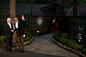 United States President Barack Obama greets European Council President Herman Van Rompuy in front of Laurel Lodge at Camp David during the 2012 G8 Summit on Friday, May 18, 2012 in Camp David, Maryland. Leaders of eight of the worlds largest economies meet over the weekend in an effort to keep the lingering European debt crisis from spinning out of control. .Credit: Luke Sharrett / The New York Times / Pool via CNP