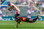 Papua New Guinea vs Tunisia during their HSBC Sevens Wold Series Qualifier match as part of the Cathay Pacific / HSBC Hong Kong Sevens at the Hong Kong Stadium on 27 March 2015 in Hong Kong, China. Photo by Juan Manuel Serrano / Power Sport Images