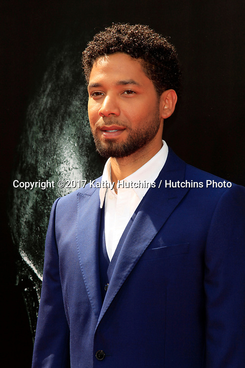 LOS ANGELES - MAY 17:  Jussie Smollett at the Ridley Scott Hand and Foot Print Ceremony at the TCL Chinese Theater on May 17, 2017 in Los Angeles, CA