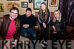 At The Red Fox Inn os Saturday Night for the Glounaguilleagh National School Table Quiz <br /> L-R Sean Treacy, Anthony Naughton, Megan Moriarty, Emer Donovan.