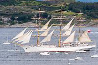 Norway, Randaberg. Tall Ships Race in Stavanger 2011. Dar Mlodziezy.