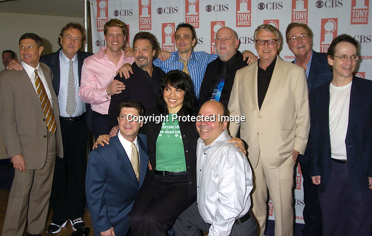 Monty Pythons Spamalot cast and producers..at The 2005 Tony Awards Nominees Meet the Press Reception on May 11, 2005 at The Marriott Marquis Hotel. ..Photo by Robin Platzer, Twin Images