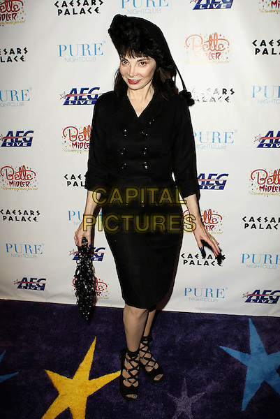 "TONI BASIL, Choreographer.Bette Midler ""The Showgirl Must Go On"" Opening Night at the Coliseum in Caesars Palace After-Party at Pure Nightclub, Las Vegas, NV, USA..February 20th, 2008.full length black skirt jacket hat bag purse .CAP/ADM/MJT.© MJT/AdMedia/Capital Pictures."