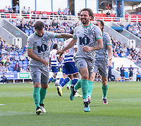 Blackburn Rovers' Bradley Dack celebrates scoring his side's first goal <br /> <br /> Photographer David Horton/CameraSport<br /> <br /> The EFL Sky Bet Championship - Reading v Blackburn Rovers - Saturday 21st September 2019 - Madejski Stadium - Reading<br /> <br /> World Copyright © 2019 CameraSport. All rights reserved. 43 Linden Ave. Countesthorpe. Leicester. England. LE8 5PG - Tel: +44 (0) 116 277 4147 - admin@camerasport.com - www.camerasport.com