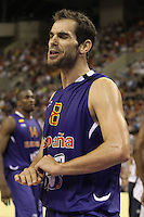 24.07.2012 Barcelona, Spain.  Pre-Olympic friendly game between Spain against USA at Palau St. Jordi. Picture shows Jose Manuel Calderon