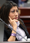 Nevada Assemblywoman Lucy Flores, D-Las Vegas, listens in committee Friday, May 20, 2011, at the Legislature in Carson City, Nev. .Photo by Cathleen Allison