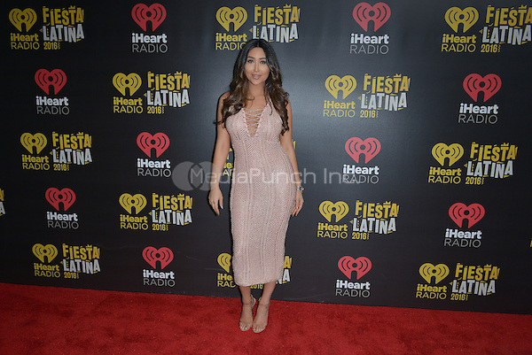 MIAMI, FL - NOVEMBER 05: Bianca Espada attends iHeartRadio Fiesta Latina at American Airlines Arena on November 5, 2016 in Miami, Florida.Credit: MPI10 / MediaPunch