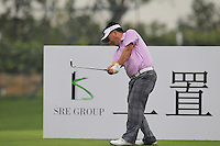 He Shao-cai (CHN) tees off the 4th tee during Thursday's Round 1 of the 2014 BMW Masters held at Lake Malaren, Shanghai, China 30th October 2014.<br /> Picture: Eoin Clarke www.golffile.ie