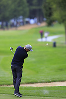 Marcel Siem (GER) plays his 2nd shot from the 9th green on the 1st hole during Saturday's Round 3 of the 2017 Omega European Masters held at Golf Club Crans-Sur-Sierre, Crans Montana, Switzerland. 9th September 2017.<br /> Picture: Eoin Clarke | Golffile<br /> <br /> <br /> All photos usage must carry mandatory copyright credit (&copy; Golffile | Eoin Clarke)