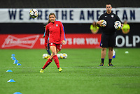 New Orleans, LA - Thursday October 19, 2017: Sofia Huerta during an International friendly match between the Women's National teams of the United States (USA) and South Korea (KOR) at Mercedes Benz Superdome.