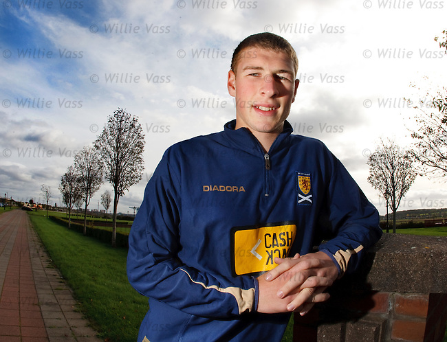 David Wotherspoon at the Scotland u21 team hotel in Clydebank ahead of Saturday's euro qualifier with Belarus
