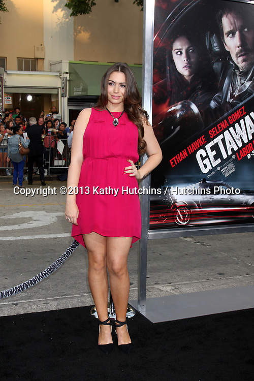 "LOS ANGELES - AUG 26:  Sophie Simmons at the ""Getaway"" Premiere at the Village Theater on August 26, 2013 in Westwood, CA"