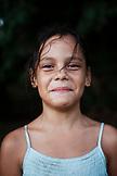 FRENCH POLYNESIA, Moorea. Portrait of Fiona.