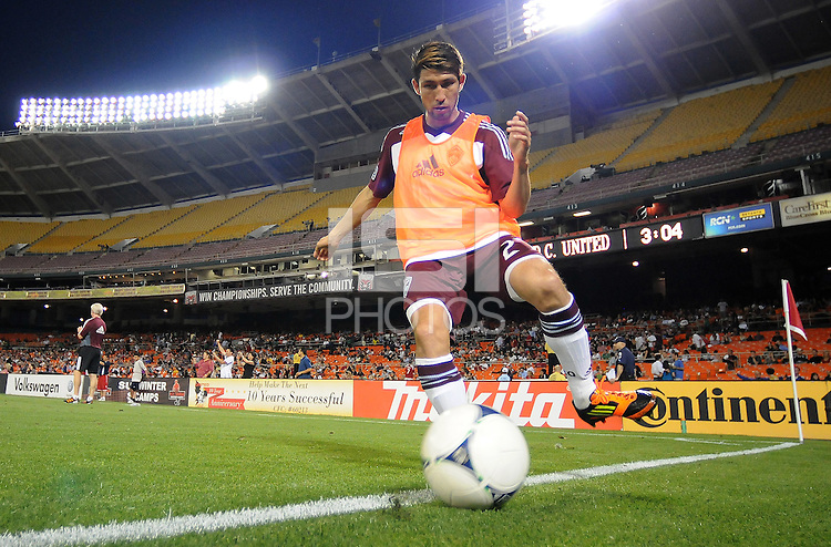 Colorado Rapids defender Kosuke Kimura (27) D.C. United defeated the Colorado Rapids 2-0 at RFK Stadium, Wednesday May 16, 2012.