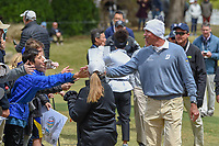 Matt Kuchar (USA) high fives fans as he departs 18 during day 5 of the WGC Dell Match Play, at the Austin Country Club, Austin, Texas, USA. 3/31/2019.<br /> Picture: Golffile | Ken Murray<br /> <br /> <br /> All photo usage must carry mandatory copyright credit (&copy; Golffile | Ken Murray)