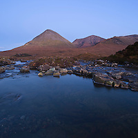 Glamaig and Red Cuillin, near Sigachan, Isle of Skye, Scotland