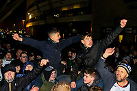 Bolton Wanderers fans protest outside the University of Bolton Stadium<br /> <br /> Photographer Alex Dodd/CameraSport<br /> <br /> The EFL Sky Bet Championship - Bolton Wanderers v West Bromwich Albion - Monday 21st January 2019 - University of Bolton Stadium - Bolton<br /> <br /> World Copyright © 2019 CameraSport. All rights reserved. 43 Linden Ave. Countesthorpe. Leicester. England. LE8 5PG - Tel: +44 (0) 116 277 4147 - admin@camerasport.com - www.camerasport.com