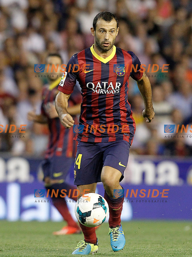 FC Barcelona's Javier Mascherano during La Liga match.September 1,2013. (ALTERPHOTOS/Acero) <br /> Football Calcio 2013/2014<br /> La Liga Spagna<br /> Foto Alterphotos / Insidefoto <br /> ITALY ONLY