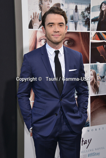 Jamie Blackley  at the If I Stay Premiere at the TCL Chinese Theatre in Los Angeles.