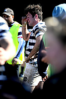 A dejected Harry Hanson of Otago Boys, during the South Island 1st XV Final match between Otago Boys High School and Nelson College, held at Littlebourne ground, Dunedin, New Zealand, 31 August 2019. Credit: Joe Allison / www.AllisonImages.co.nz