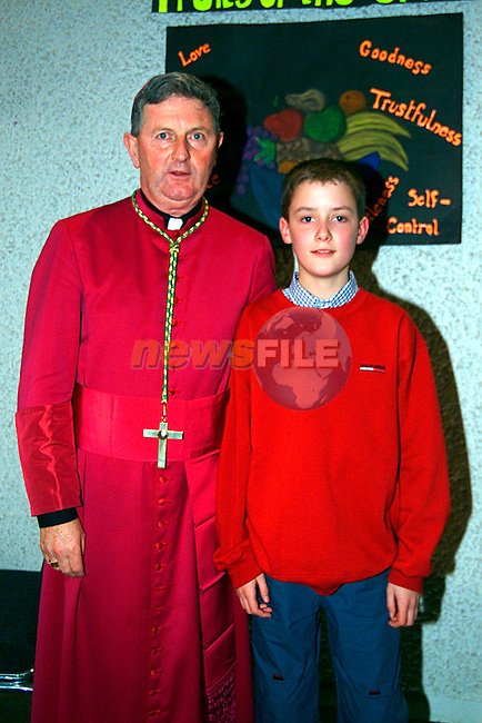 Andrew O Donoghn with Bishop Micheal Smith in Loytown...Pic Tony Campbell/Newsfile