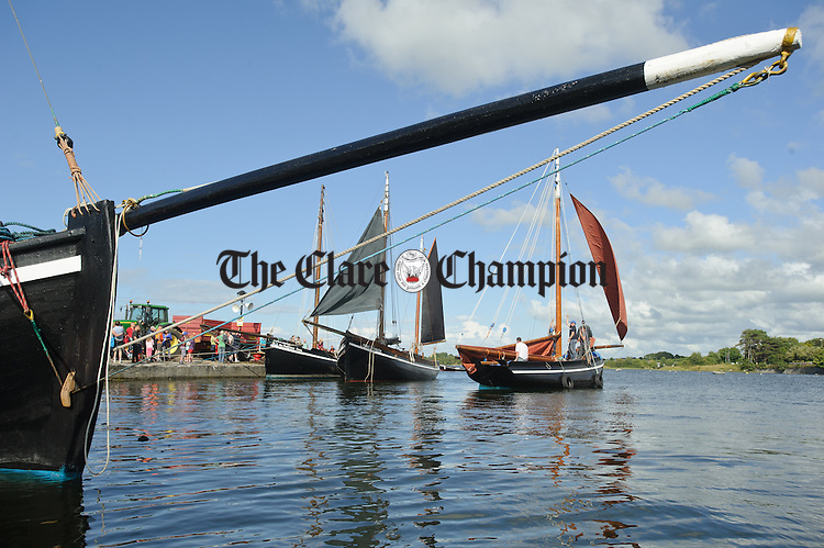 A busy harbour during  Cruinniu na mBad in Kinvara. Photograph by John Kelly.