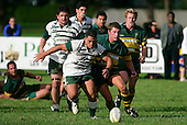S. Lea & B. Crisp chase the loose ball. Counties Manukau Premier Club Rugby, Pukekohe v Manurewa  played at the Colin Lawrie field, on the 17th of April 2006. Manurewa won 20 - 18.