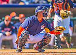 7 March 2013: Houston Astros catcher Carlos Perez in action during a Spring Training game against the Washington Nationals at Osceola County Stadium in Kissimmee, Florida. The Astros defeated the Nationals 4-2 in Grapefruit League play. Mandatory Credit: Ed Wolfstein Photo *** RAW (NEF) Image File Available ***