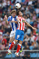 02.05.2012 SPAIN -  La Liga matchday 20th  match played between Atletico de Madrid vs Real Sociedadl (1-1) at Vicente Calderon stadium. The picture show Asier Illarramendi Andonegi (Midfielder of Real Sociedad) and Jorge Resurreccion Koke (Spanish midfielder of At. Madrid)