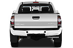 Straight rear view of a 2011 Toyota Tacoma PreRunner Off Road Double Cab