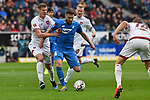 10.03.2019, Prezero-Arena, Sinsheim, GER, 1 FBL, TSG 1899 Hoffenheim vs 1. FC Nuernberg, <br /> <br /> DFL REGULATIONS PROHIBIT ANY USE OF PHOTOGRAPHS AS IMAGE SEQUENCES AND/OR QUASI-VIDEO.<br /> <br /> im Bild: Ermin Bicakcic (TSG Hoffenheim #4) gegen Patrick Erras (#29, 1. FC Nuernberg)<br /> <br /> Foto &copy; nordphoto / Fabisch